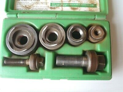Greenlee Slug Buster 7235bb Knockout Punch Set 12 - 1 14 Conduit Used
