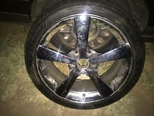Holden 18 inch chrome mags and tyres off vr statesman Kyabram Campaspe Area Preview