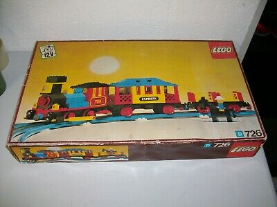Vintage Lego Railway Western train set 726 in original box RARE 1976!
