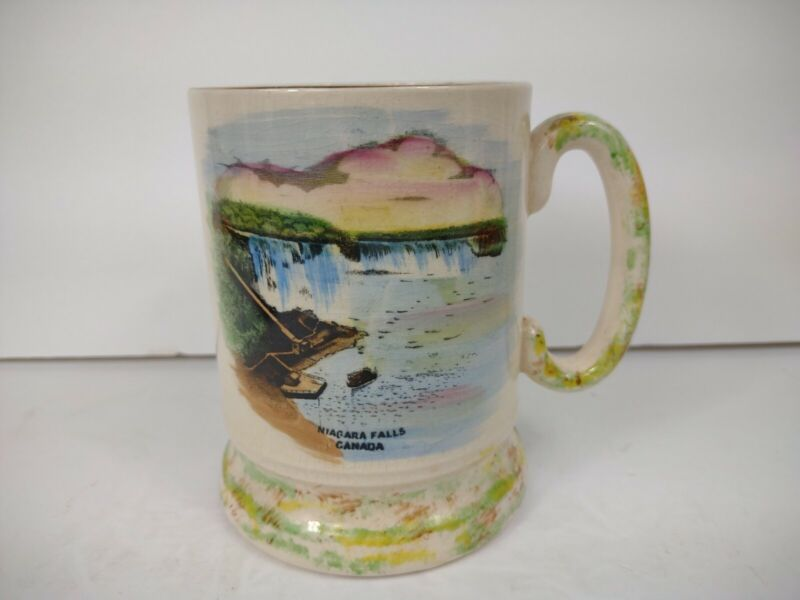 Vintage Author Wood Niagara Falls Canada Mug