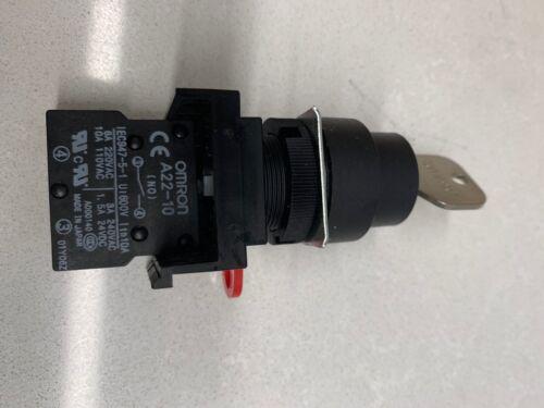 OMRON SWITCH KEY LOCK 2POS SPST 10A 110V Brand New with Key A22K-2ML-10 Z1532-ND