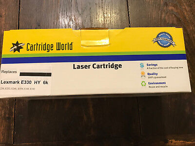 Lexmark E330 New Laser Toner Cartige 6000-page Black