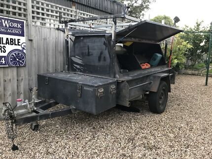 Builders Trailer 7x4 Hydraulic Breaks East Melbourne Melbourne City Preview