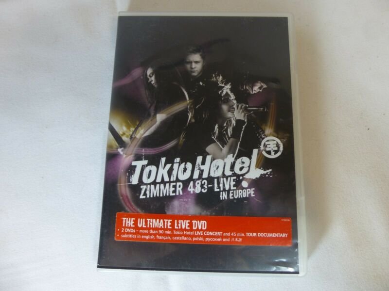 Tokio Hotel 2007 2 disc DVD Zimmer 483 Live in Europe concert tour