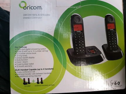 New in box Digital cordless phones  oricom eco710-2