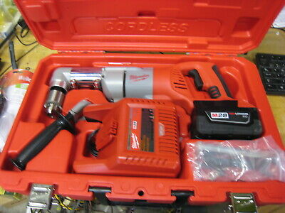 Milwaukee M28 Cordless Right Angle Drill Kit 0721-21 1/2