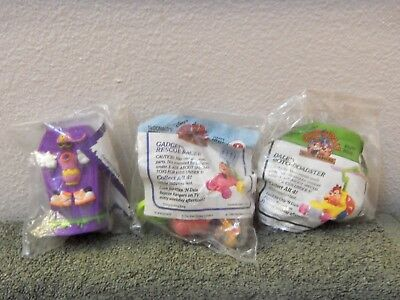 3 old McDonald's fast food toys MIP- one is a regional Halloween promotion