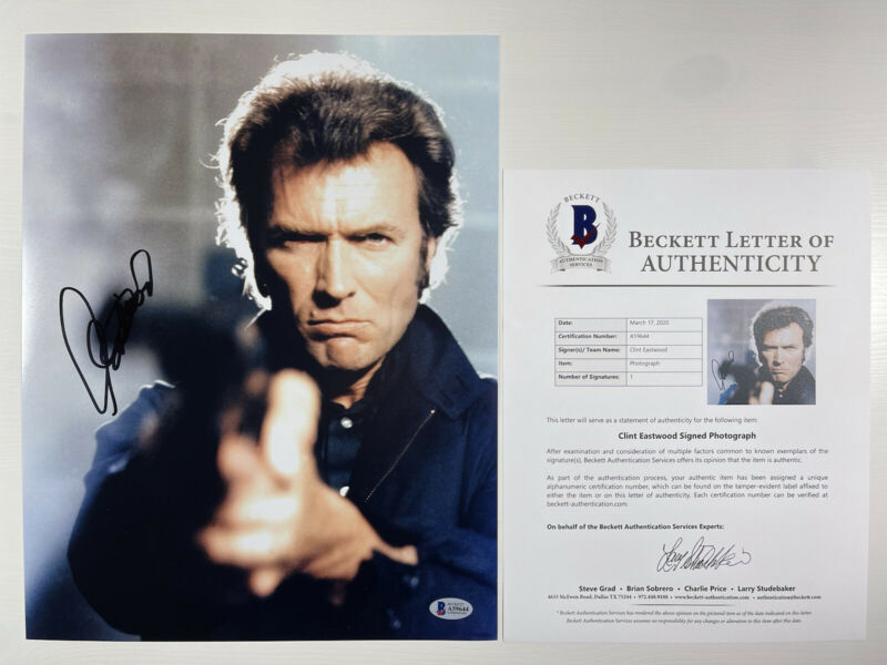 CLINT EASTWOOD SIGNED DIRTY HARRY MAGNUM FORCE 11x14 PHOTO BAS LOA #A59644