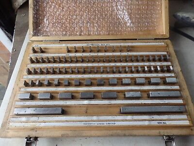 Set of Coventry Gauge & Tool imperial slip gauges