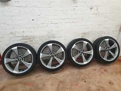 "GENUINE AUDI A5 S5 RS5 A4 S4 RS4 B9 19 "" S-LINE ALLOY WHEELS & TYRES 245/35/R19"