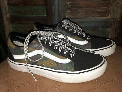 Vans Customs Old Skool Woodland Camo Low Top Lace Womens Size 8