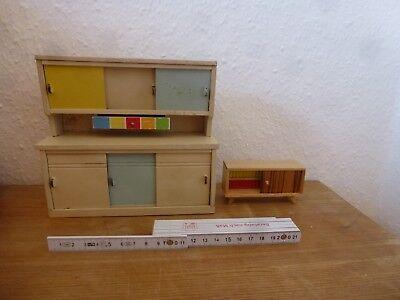Kaufladen Puppenstube Küchenschrank 50er Jahre + sideboard # mid century
