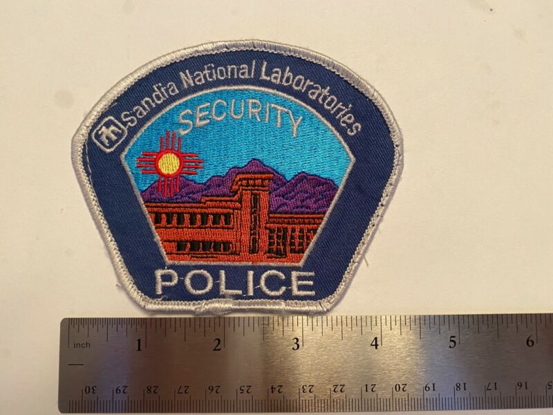 SANDIA NATIOANL LAB NEW MEXICO DOE ENERGY Police Patch SECURITY POLICE PATCH