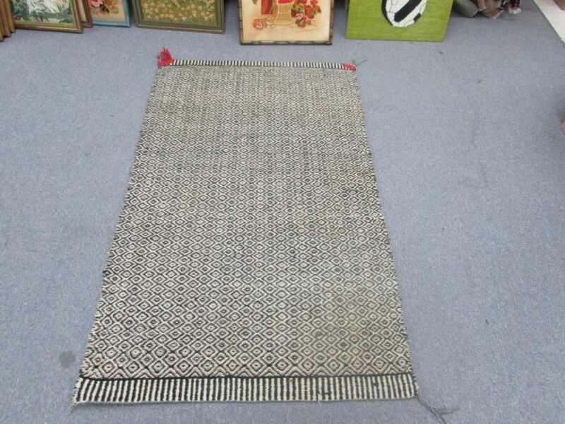 "Vintage Wool weaving blanket Southwest American 33"" x 54"" Edward Green Colorado"
