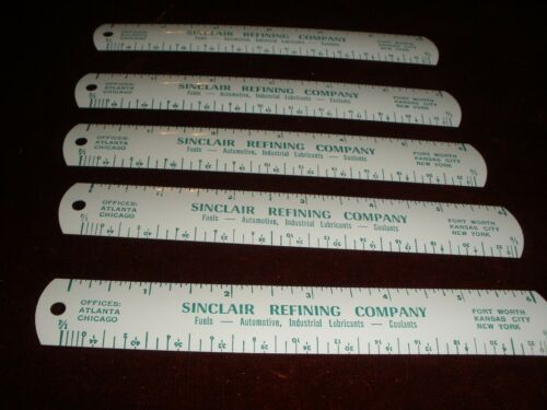 """Vintage 1940-50s Mint NOS (new old stock) 6"""" Tin SINCLAIR REFINING COMPANY Ruler"""
