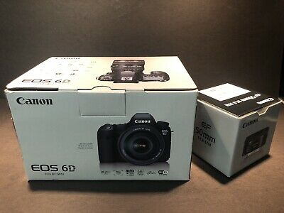 Canon EOS 6D 20.2MP DSLR Camera - Black Body and EF 50mm f/1.8 STM Lens