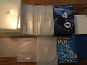 """Huge lot of new DVD/CD cases that can hold up to 128 DVD/CD"""