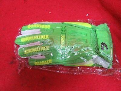 Magid T-Rex Hi-Vis Windstorm Goat Skin Palm Impact Glove Cut Level A6-Sz M  - T Rex Gloves