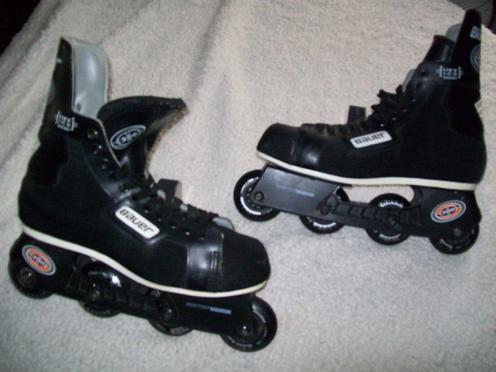 bauer 200 roller hockey skates blades size 10 great shape