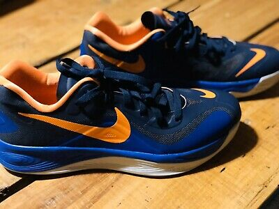 Men's Nike Hyperfuse Basketball Shoes Size 12. Orange And Blue.