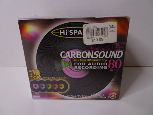 Hi-Space Carbon Sound High Tech UV Protection 10 CD Pack Vinyl Collector CD-R