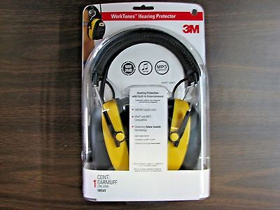 3M WORKTUNES HEARING PROTECTOR MP3 COMPATIABLE AM/FM DIGITAL  RADIO NEW (90541)