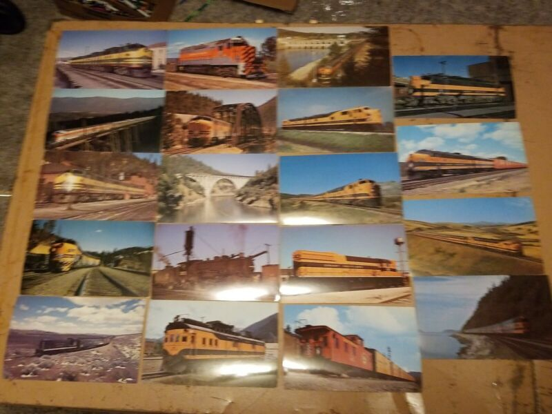 Lot of 19 GREAT NORTHERN RAILWAY Vanishing Vistas Railroad Picture Cards