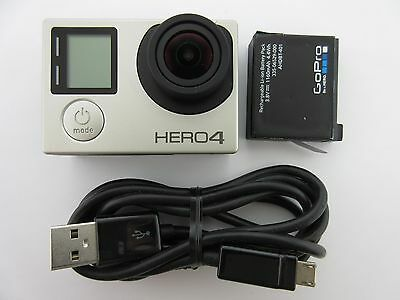 Used Gopro Hero 4 Silver Edition Camcorder Chdhy 401 Touch Screen Good Condition