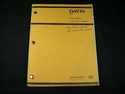 Case Davis Dh5 Trencher Tractor Backhoe Plow Parts Manual Book Oem 1977