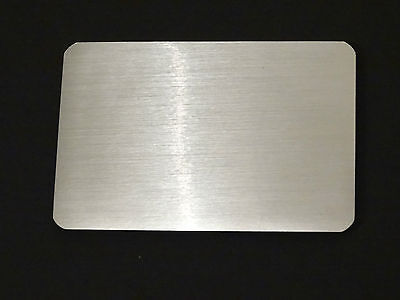 NEW Brushed Aluminium Credit Card Sized Magnetic Folded Address Phone Book