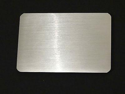 NEW Brushed Aluminium Look Credit Card Sized Magnetic Folded Address Phone Book