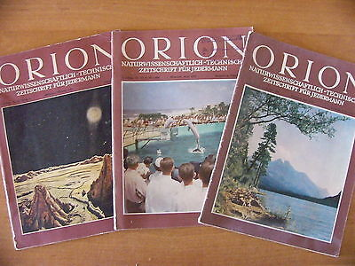 3 Orion Naturwissenschaftlich-technische Zeitschrift 7. Jahrgang 11,14,19 - 1952