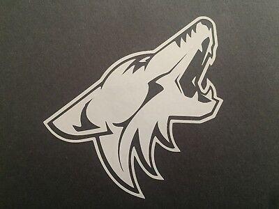 Arizona Nhl (NHL ARIZONA COYOTES WHITE VINYL STICKER /)