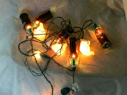 COCA COLA  WHITE BEAR AND BOTTLES  PATIO  LIGHT STRING SEE PHOTOS