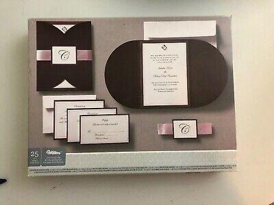 Pocket Wedding Invitation Kits (Wilton Brown Pink Rhinestone Pocket Printable Wedding Invitations Kit)