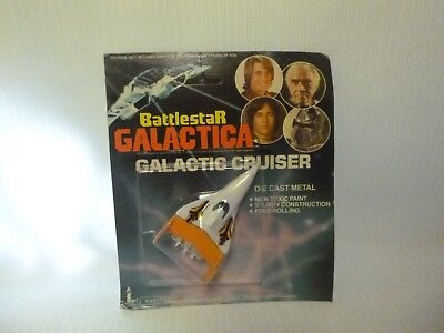 Battlestar Galactica Die Cast Metal Galactic Cruiser by Larami corp hong kong