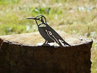 Cut Metal Rusty Hummingbird Bird Garden Home Yard Porch Window Outdoor Art Decor