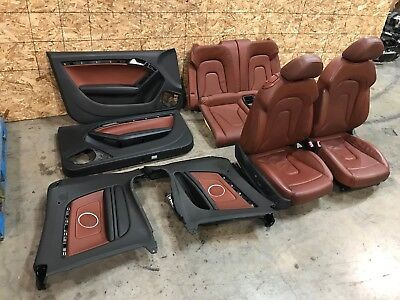 09-15 AUDI A5 S5 CABRIOLET CONVERTIBLE LEATHER VENTED SEAT SEATS W DOOR PANELS