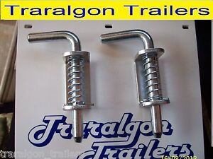 2x spring loaded tailgate tail gate latches fastener lock suit trailer UTE M13