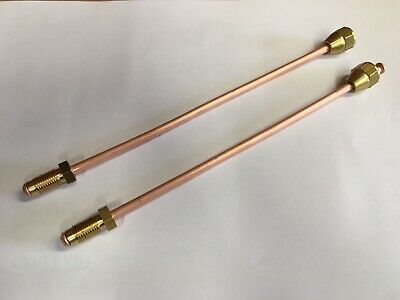 1962-66 *FRONT DRUM BRAKES* x2 FORD Cortina Mk1  Front Brake Hoses Pipes