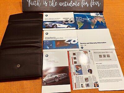 2001 BMW Z8 OWNERS MANUAL SET HANDBOOK SET +UNUSED SERVICE BK (clean) 2000 2002