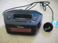 Teac iPod Dock Clock AM/FM Radio + Charges Iphone CRX313i Eastwood Ryde Area Preview