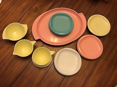 Lot Of 15 ~ Vintage Boontonware ~ Boonton Melamine Melmac Platter Plates S&C Cup