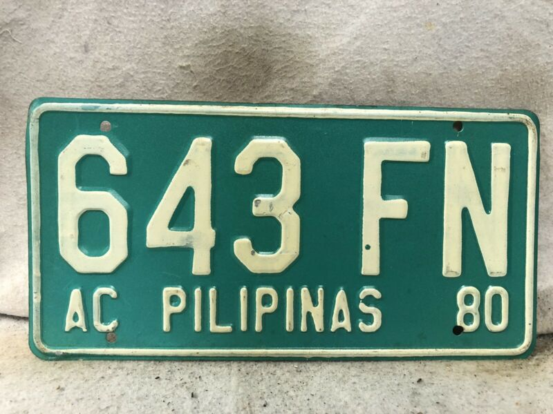 1980 Philippines License Plate