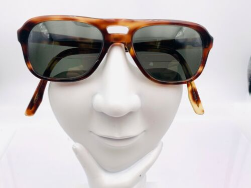 Vintage M-255 Brown Tortoise Aviator Sunglasses USA FRAMES ONLY