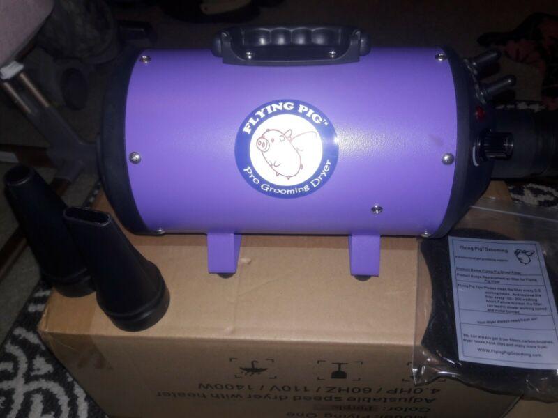 Flying Pig Grooming One Purple High Velocity 4 HP Motor Pet Grooming Dryer