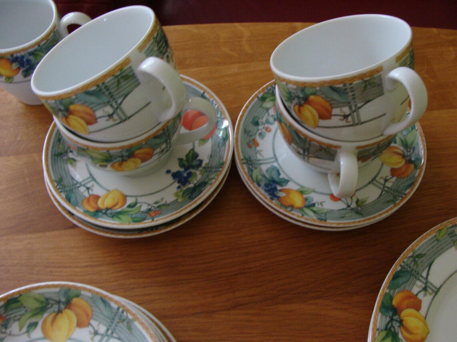 Wedgwood Geschirr Dekor Eden Einzelteile Kaffee-Tasse mit Untertasse Teetasse