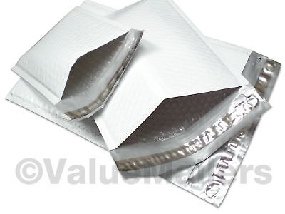 1 Quality Poly 7.25x12 Dvd Bubble Mailers Envelopes Bags 50 100 200 500 1000