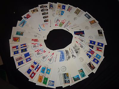 USA FIRST DAY COVERS X 25 VARIOUS STAMPS SUBJECTS (PQ) C1980's US POSTAL SERVICE