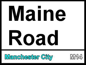 Manchester-City-Maine-Road-Street-Sign-Metal-Aluminium-Football-Fc